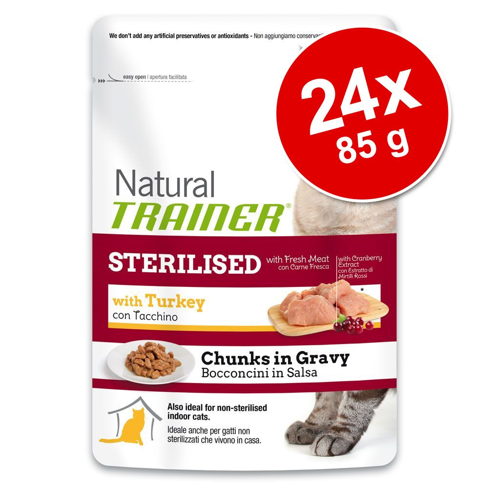 Image of Trainer Natural 24 x 85 g - Sterilised con Tacchino