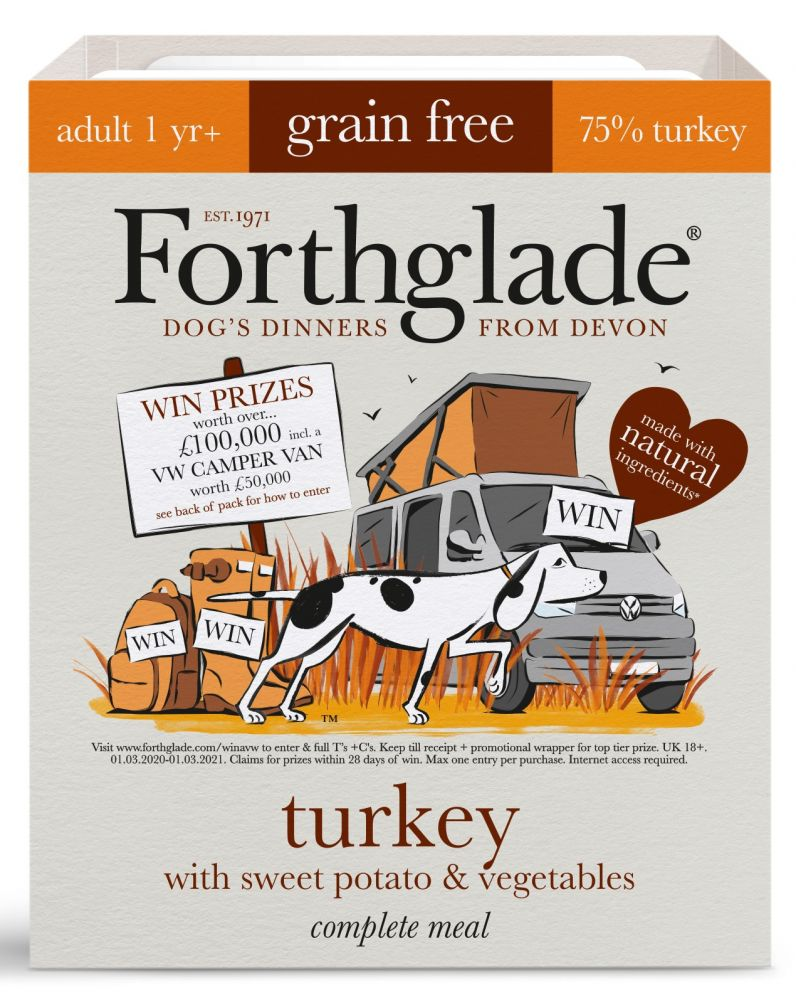 36x395g Forthglade Grain Free Complete Meal Mixed Pack