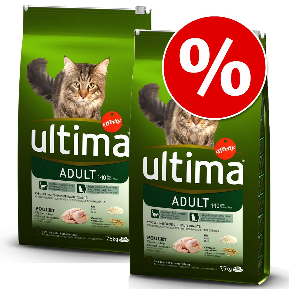 Foto Set risparmio! 2 x Ultima Cat - Adult Pollo (2 x 7,5 kg) Affinity Ultima