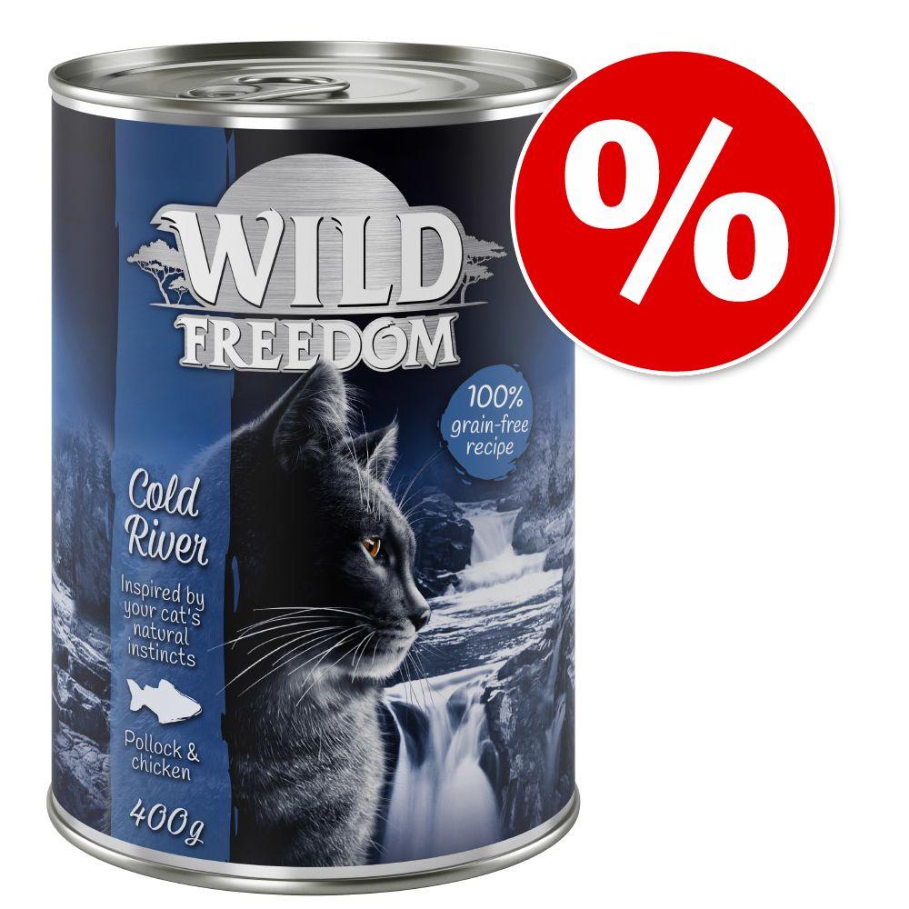 Black week-rabatt: 18 + 6 på köpet! 24 x 400 g Wild Freedom Farmlands - Beef & Chicken 24 x 400 g