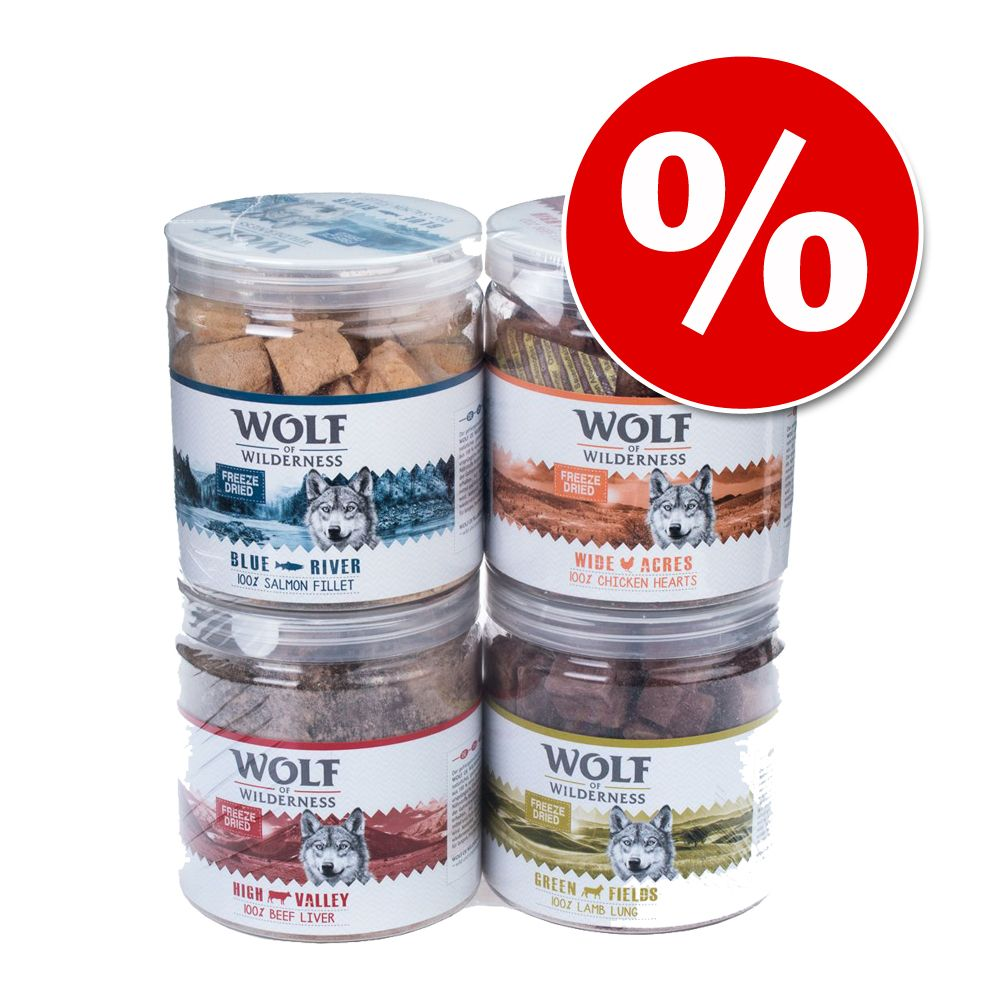 Wolf of Wilderness – frystorkat premiumgodis i ekonomipack! – High Valley – oxlever (360 g)