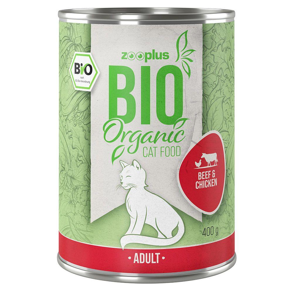 Lot zooplus Bio bœuf, poulet 12 x 85 g/ 400g 12 x 400 g