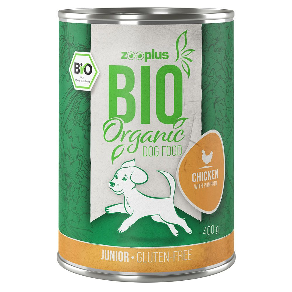 zooplus Bio Junior Kyckling med pumpa - 6 x 400 g