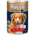 Rocco Real Hearts 6 x 400g - Beef with whole Chicken Hearts