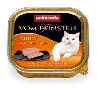 Image of 32 x 100 g Animonda vom Feinsten Adult + 250 g Trockenfutter Huhn gratis! - Geflügel & Kalb