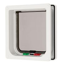 Cat Mate Large Cat Flap - 4 Way lock - Brown