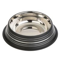 Silver Line Stainless Steel Dog Bowl Black - 0.45 litre