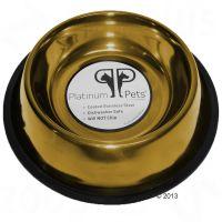 Ciotola in acciaio platinum pets per cani gold - - 0,175 l, 㘠15 cm.