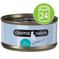 Cosma Nature Voordeelpakket Kattenvoer 24 x 70 g Kip & Kaas