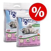 Dubbelpak Tigerino Canada Kattenbakvulling Babypoedergeur (2 x 12 kg)