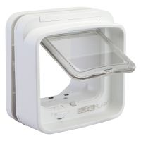 SureFlap DualScan Microchip Cat Flap - Adaptor for Installation in Windows (White)