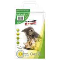 Super Benek Corn Cat Fresh Grass Clumping Litter - Economy Pack: 3 x 7 litres