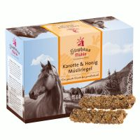 Stephans Muhle Muesli Bars for Horses Carrot & Honey - Saver Pack: 24 x 2 Bars