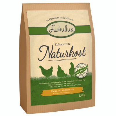Lukullus Naturkost, kana & täysjyväriisi - 15 kg