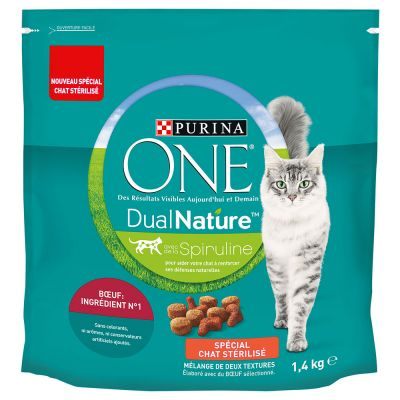 Purina ONE Dual Nature Sterilized Beef & Spirulina - 1,4 kg
