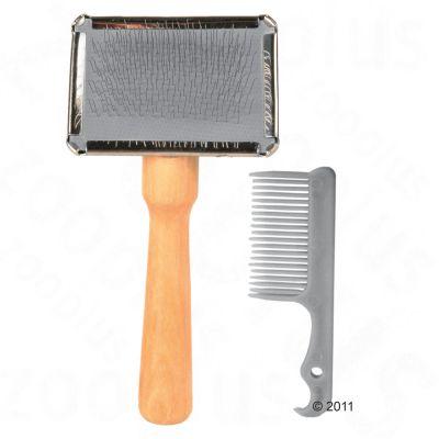 Mjuk karda med borstrengörare - B 13 x D 6 cm