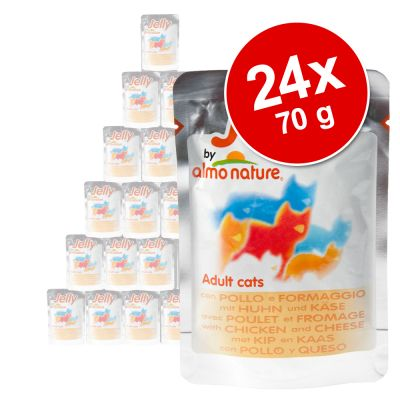 Ekonomipack: Almo Nature Jelly i portionspåsar 24 x 70 g – Tonfisk