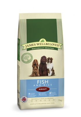James Wellbeloved Adult Fish & Rice – Ekonomipack: 2 x 15 kg