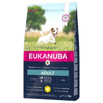 Eukanuba Adult Small Breed Chicken - säästöpakkaus: 2 x 3 kg