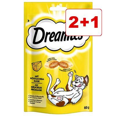 3 x 60 g Dreamies: 2 + 1 kaupan päälle! - lohi (3 x 60 g)