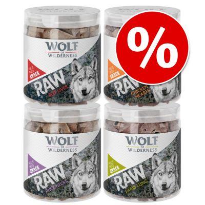 Wolf of Wilderness RAW snacks liofilizados premium - Pack Ahorro 4 unidades - Cuellos de pato (360 g)