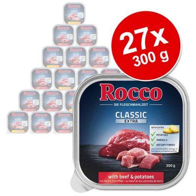 Säästöpakkaus: Rocco Classic -rasiat 27 x 300 g - kana & riisi
