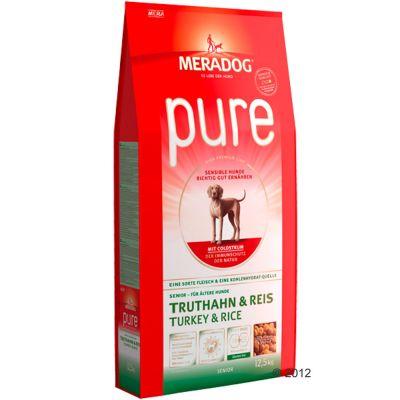 Meradog Pure Senior Turkey & Rice - säästöpakkaus: 2 x 12,5 kg