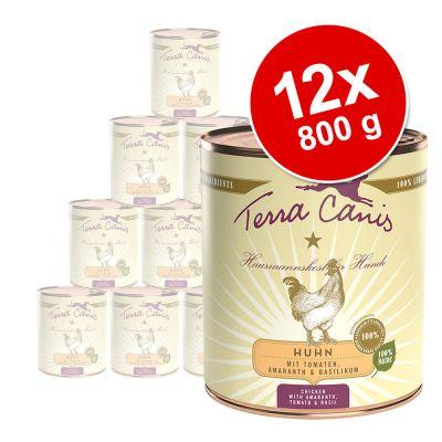 Terra Canis -säästöpakkaus 12 x 800 g - mix: kani + riista