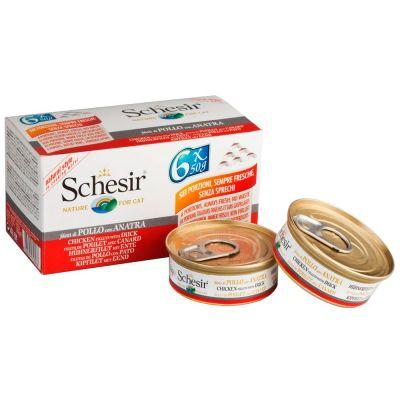 Schesir Small Natural 6 x 50 g - kanafile & ankka