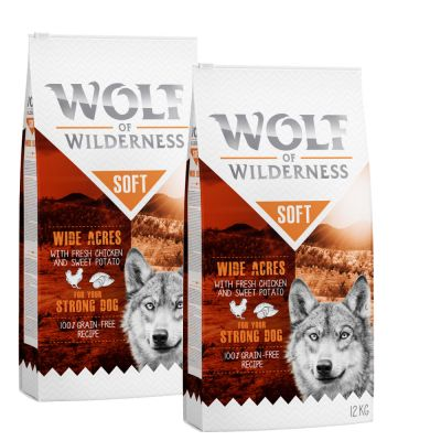 "Sparpaket Wolf of Wilderness ""Soft & Strong"" 2 x 12 kg"