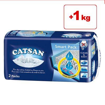 Catsan Smart Pack 4 pakkausta erikoishintaan: 1 kg kaupan päälle! - 4 pakkausta (2x 3,95 kg)