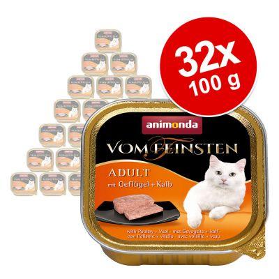 Animonda vom Feinsten Adult -säästöpakkaus 32 x 100 g - kalkkunansydän
