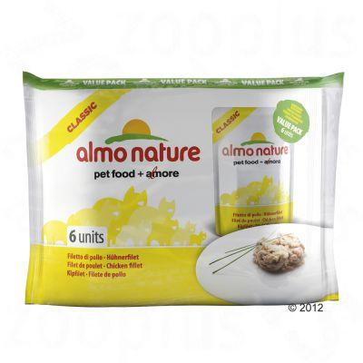 Almo Nature Classic i portionspåse 6 x 55 g – Kyckling och babysardiner