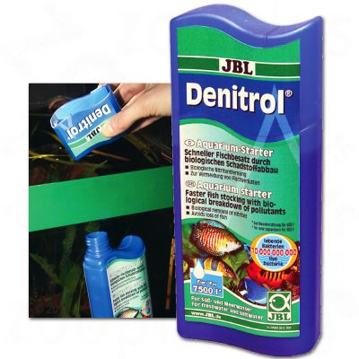 JBL Denitrol Bacteria akvarium-start – 250 ml, för 7500 l vatten