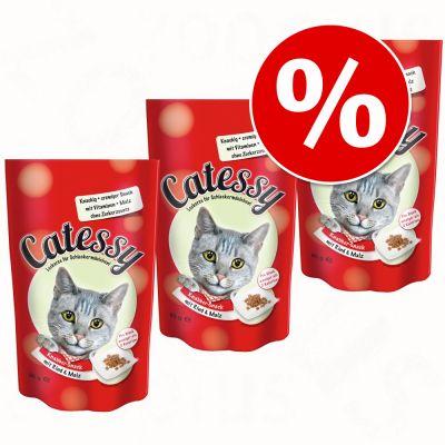 Ekonomipack: Catessy Snacks 3 x 65 g - Kyckling & ost
