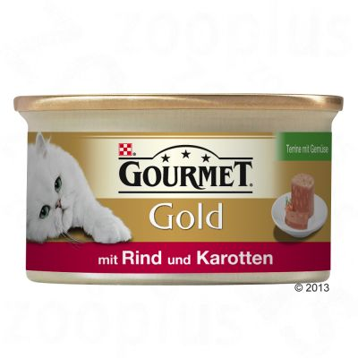 Gourmet Gold Terrine 12 x 85 g – Kyckling, morötter & zucchini (12 x 85 g)