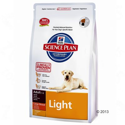 hill-canine-adult-light-large-breed-kylling-okonomipakke-2-x-12-kg