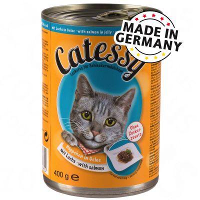 Catessy Hapjes in Gelei Kattenvoer 6 x 400 g Kip