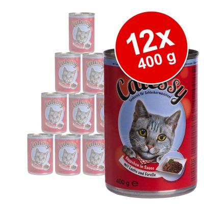 Catessy bitar i sås 12 x 400 g – Anka & lever