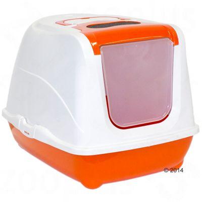 Moderna Products kattlåda Flip Cat Jumbo – Orange / vit
