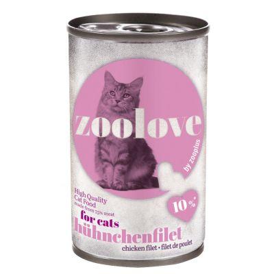 Megapakiet zoolove dla kota, 24 x 140 g - Tuńczyk