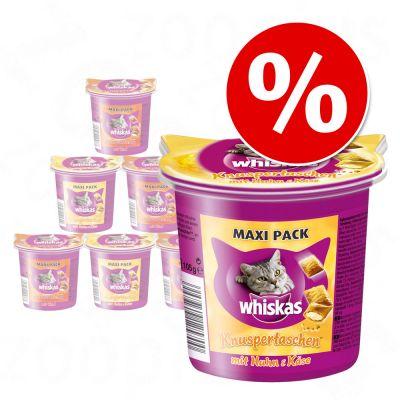 Blandpack: Whiskas Temptations 6 x 105 g – Kyckling & ost, Nötkött