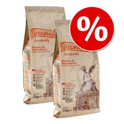 Ekonomipack: 2 x 3 kg Greenwoods foder till lågpris! – Marsvinsfoder (2 x 3 kg)