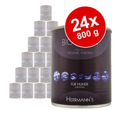 Herrmanns Menu -säästöpakkaus 24 x 800 g - riista, pasta, omena & karpalo