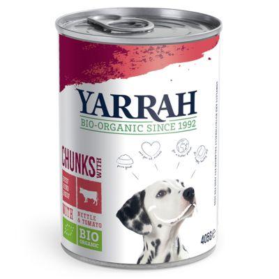Yarrah Bio, kanaa, nautaa, nokkosta & tomaattia kastikkeessa - 6 x 405 g