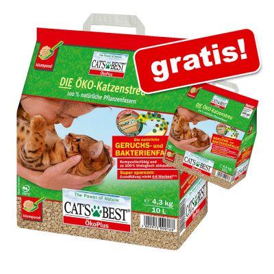 10 l + 2 l på köpet! Cat's Best Öko Plus kattströ – 10 l + 2 l på köpet! (ca 5,2 kg)
