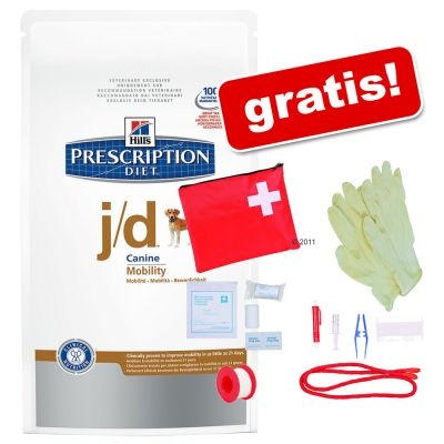 10/12 kg Hill's Prescription Diet + Första hjälpen-set! – Prescription Diet Canine – j/d (12 kg)