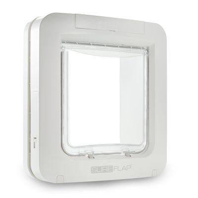 SureFlap-mikrosirulemmikinluukku - lisäosa ikkunaan tai metallioveen asentamiseen, valkoinen
