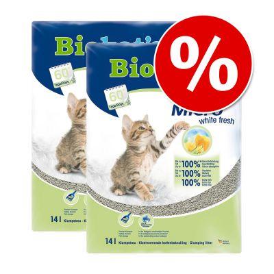 Ekonomipack: 2 eller 3 påsar Biokat's kattsand till sparpris - Classic Fresh 3in1 babypuderdoft (3 x 10 l)