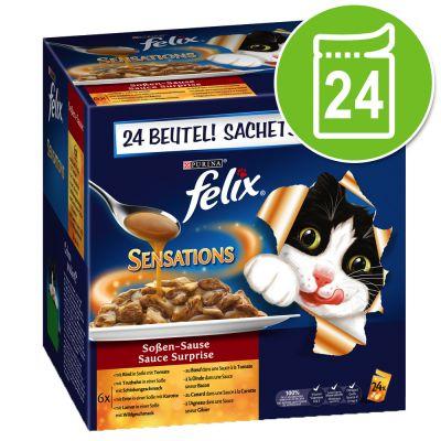 Felix Sensations 24 x 100 g - Pack Ahorro - Selección de carne en gelatina
